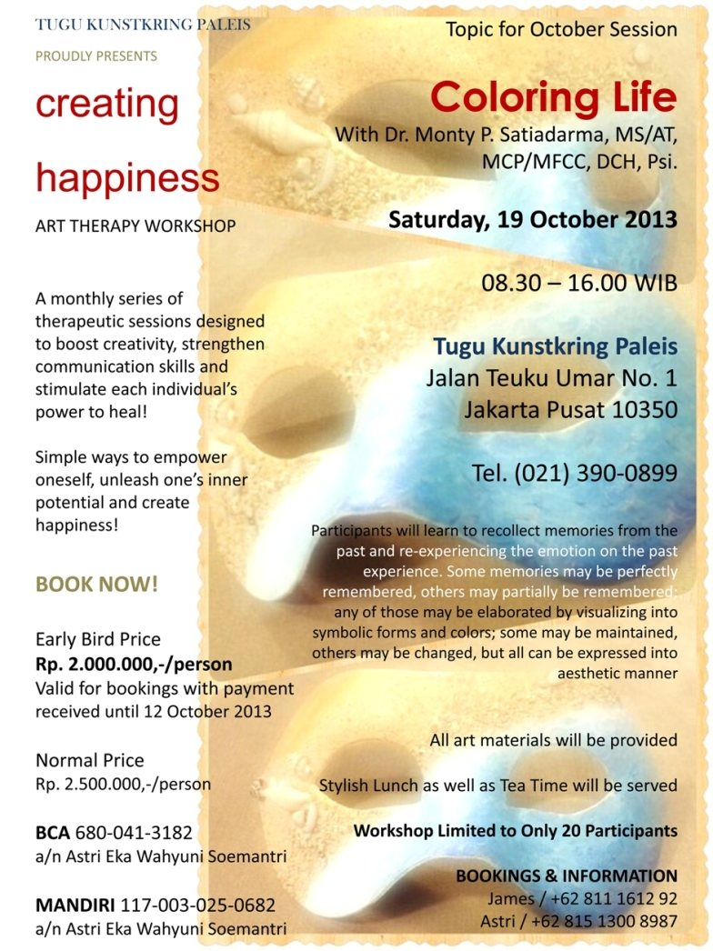 creating happiness - art therapy workshop at tugu kunstkring paleis