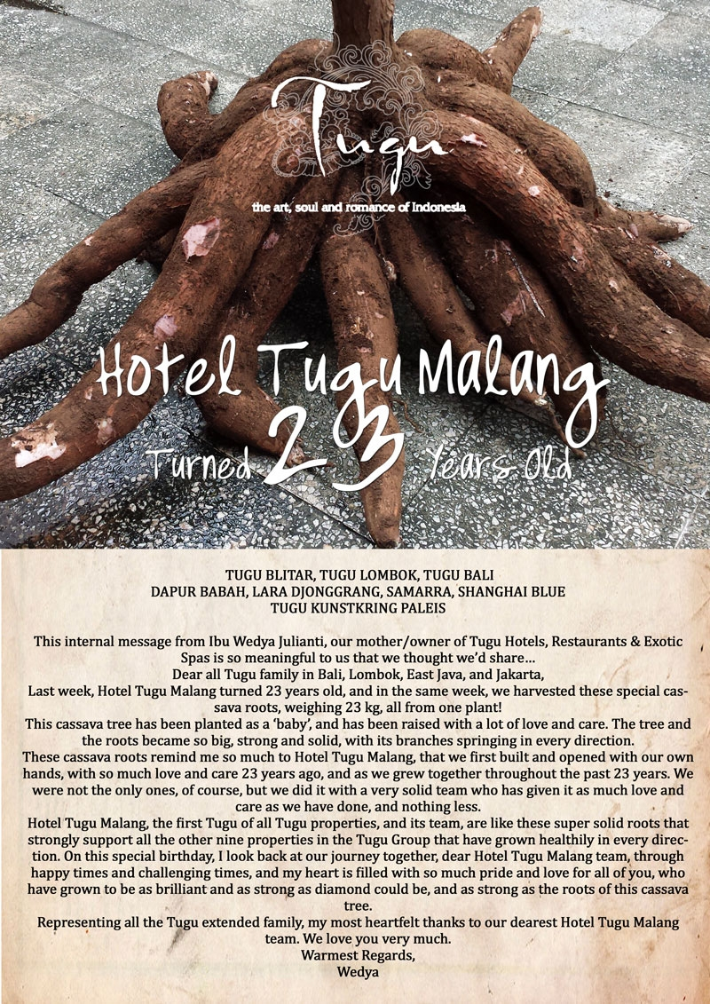 hotel tugu malang turned 23 years old