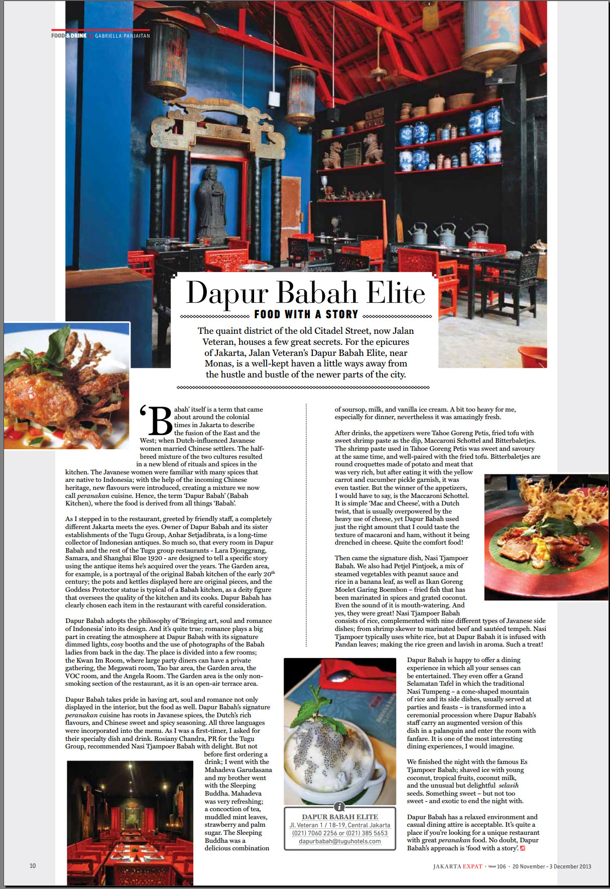 jakarta expat review on dapur babah 20th nov edition