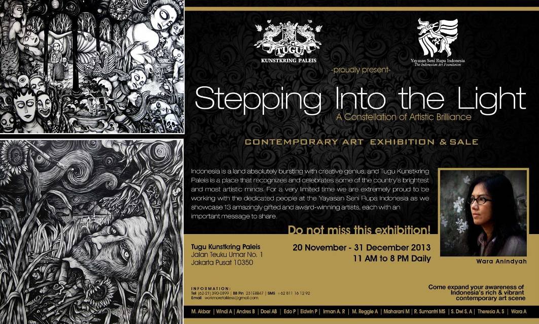 stepping into the light - a constellation of artistic brilliance contemporary art exhibition and sale at tugu kunstkring paleis