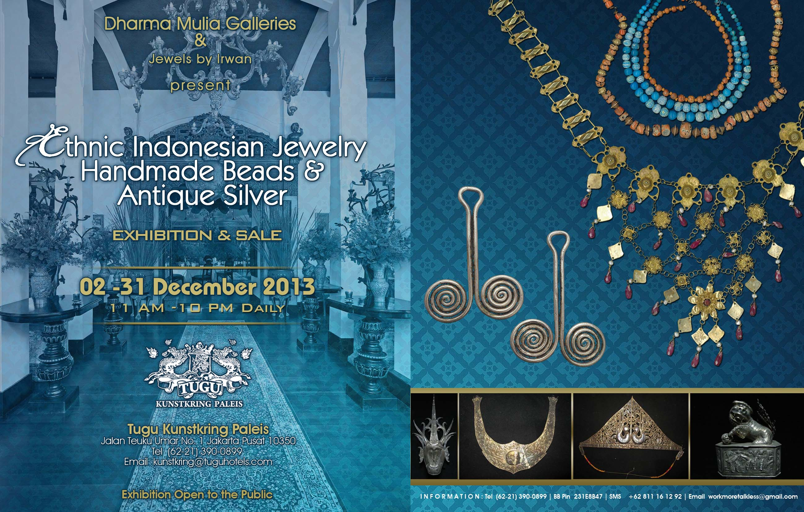 ethnic indonesian jewelry handmade beads and antique silver exhibition & sale 02-31 dec 2013 at tugu kunstkring paleis