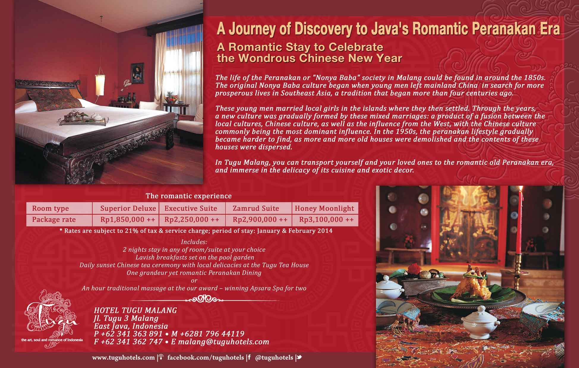 a journey of discovery to java's romantic peranakan era - a romantic stay to celebrate the wondrous chinese new year