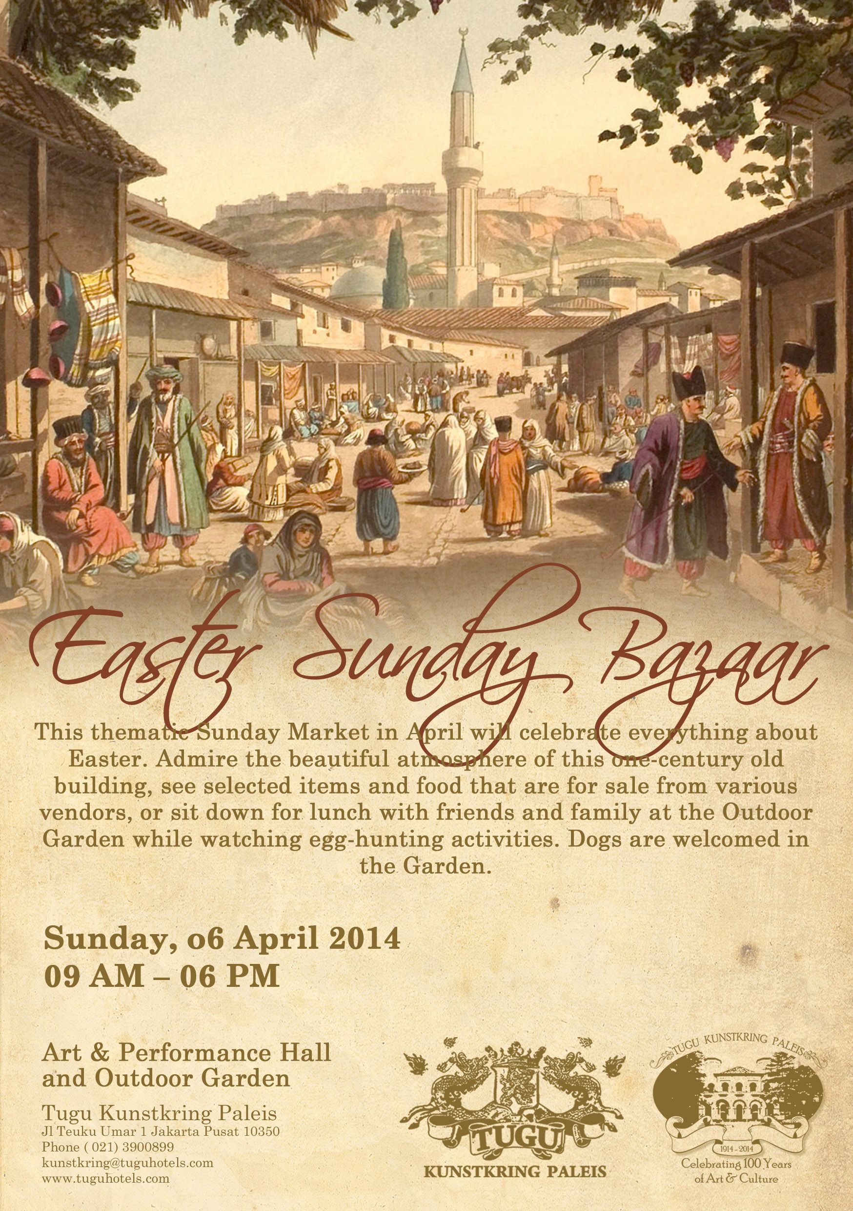 A special easter sunday market at tugu kunstkring paleis for Asmoro decoration