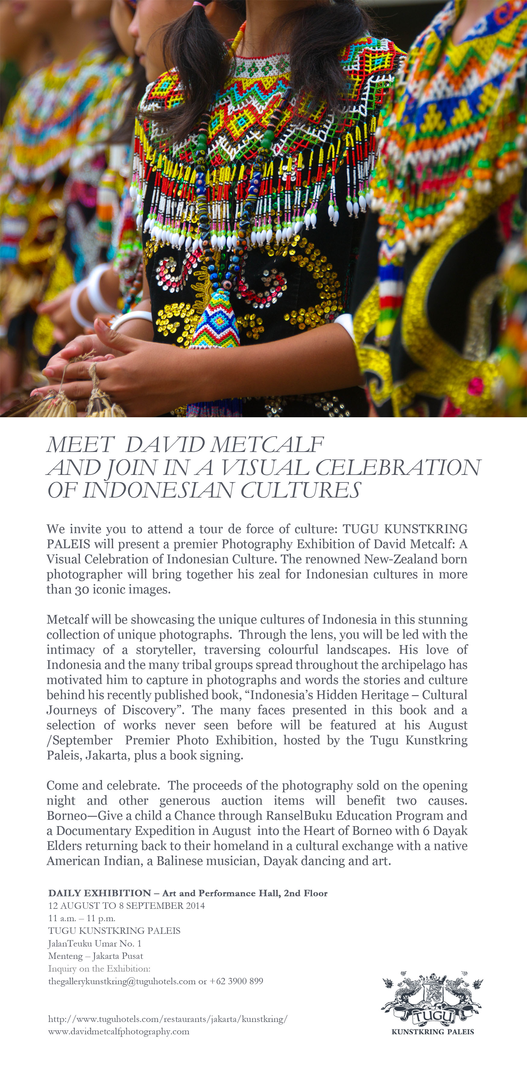 meet david metcalf and join in a visual celebration of indonesian cultures - tugu kunstkring paleis