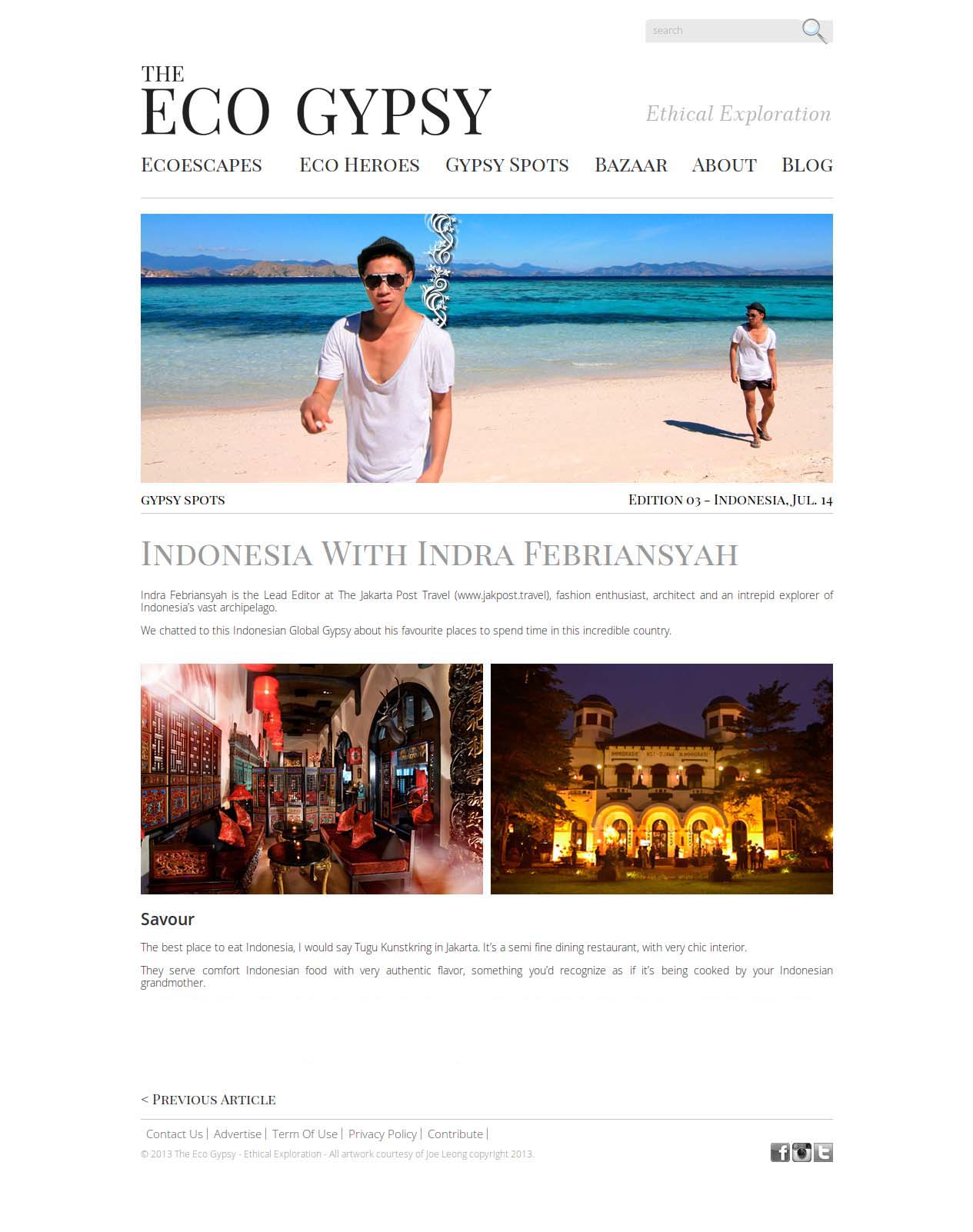 Indonesia With Indra Febriansyah - The Eco Gypsy - Ethical Exploration