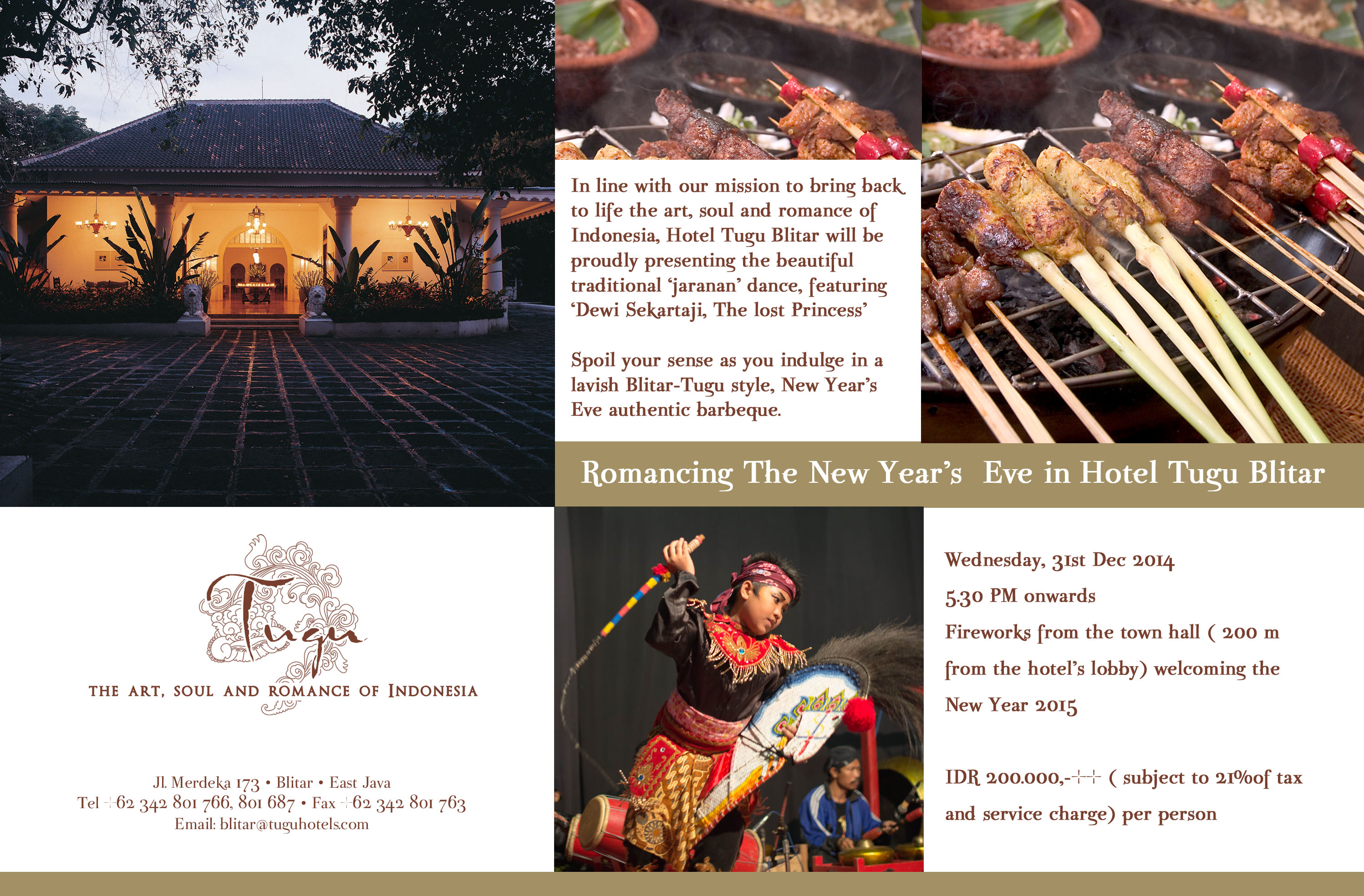 romancing the new years eve in hotel tugu blitar