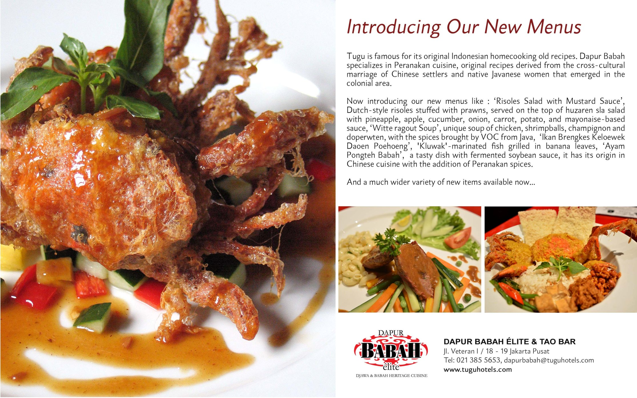 new menu from dapur babah restaurant 2015