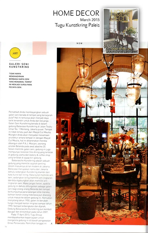 Tugu kunstkring paleis review on home decor march 2015 for Asmoro decoration