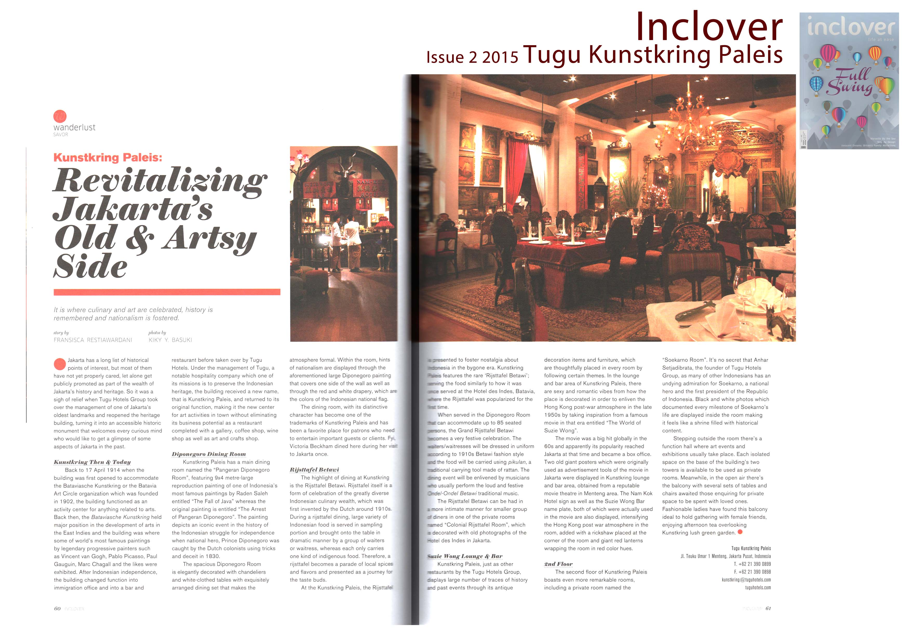 Revitalizing Jakarta's Old & Artsy Side - Kunstkring Paleis - Inclover Issue 2 2015