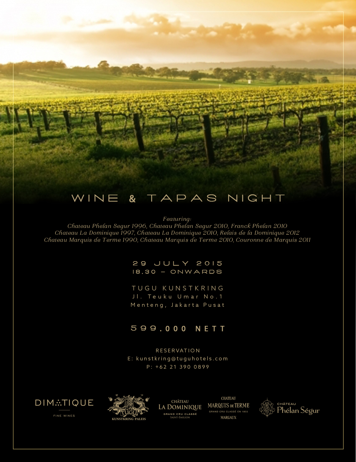 Wine & Tapas Night 29 July