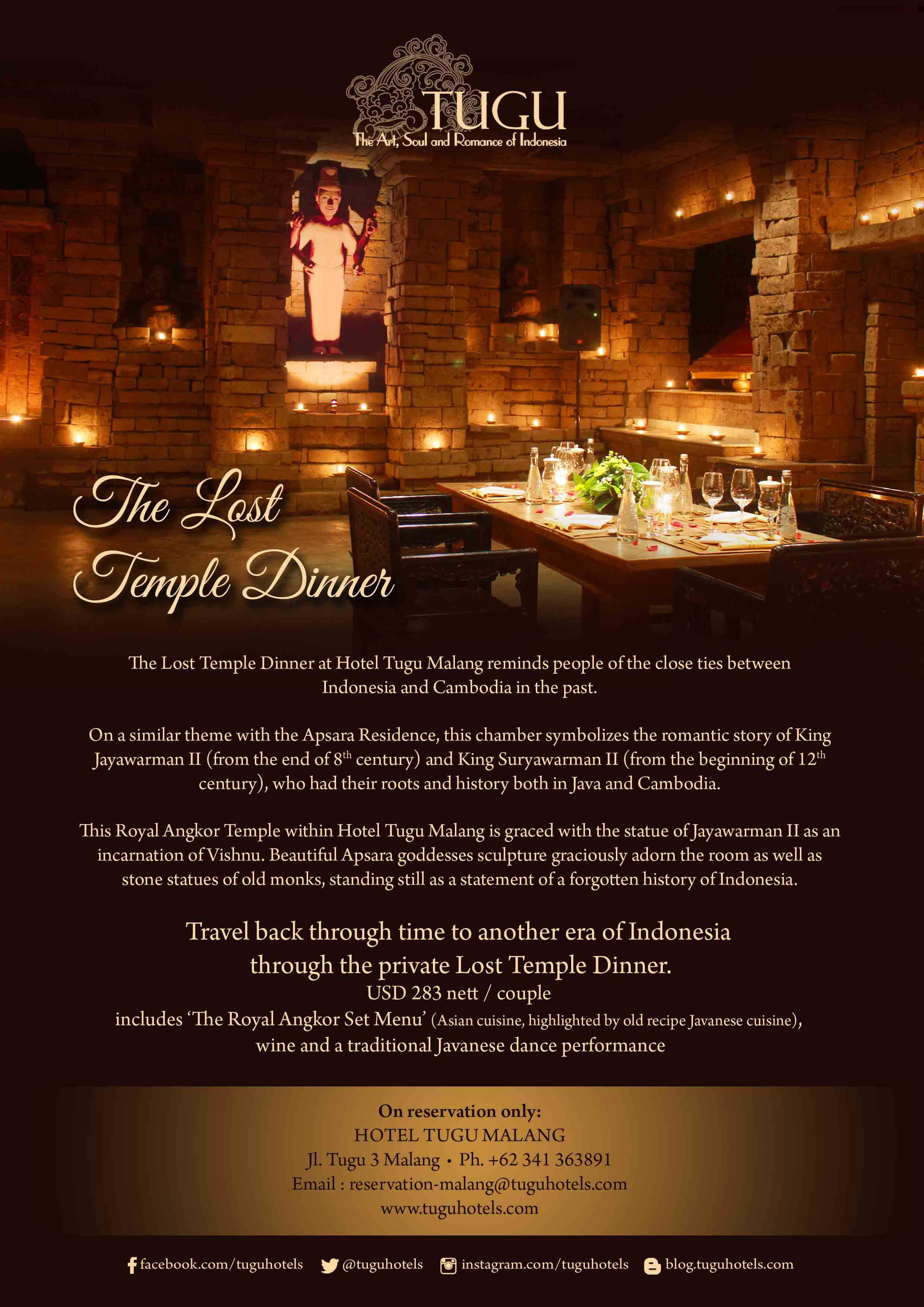 The Lost Temple Dinner - Hotel Tugu Malang