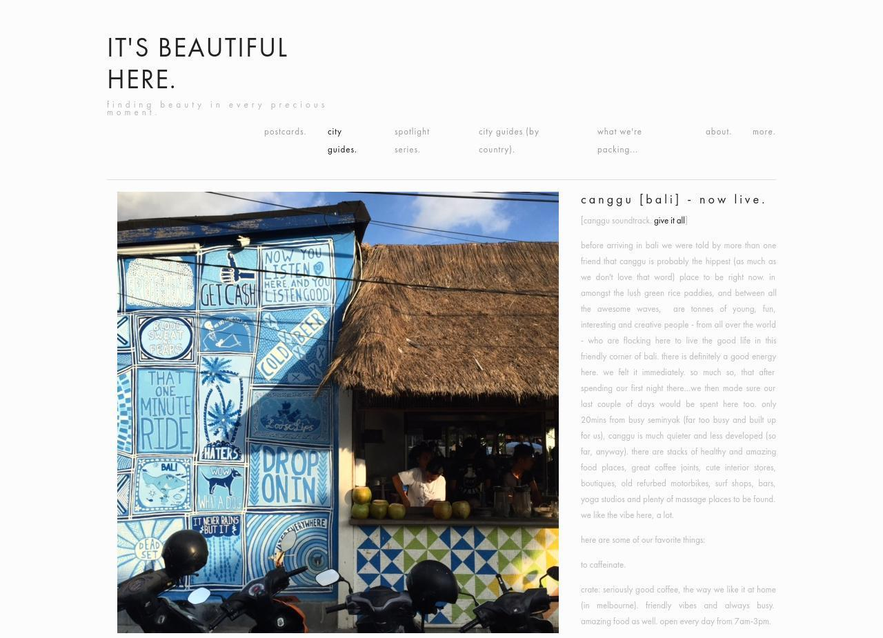 it's beautiful here - canggu tugu bali-cover