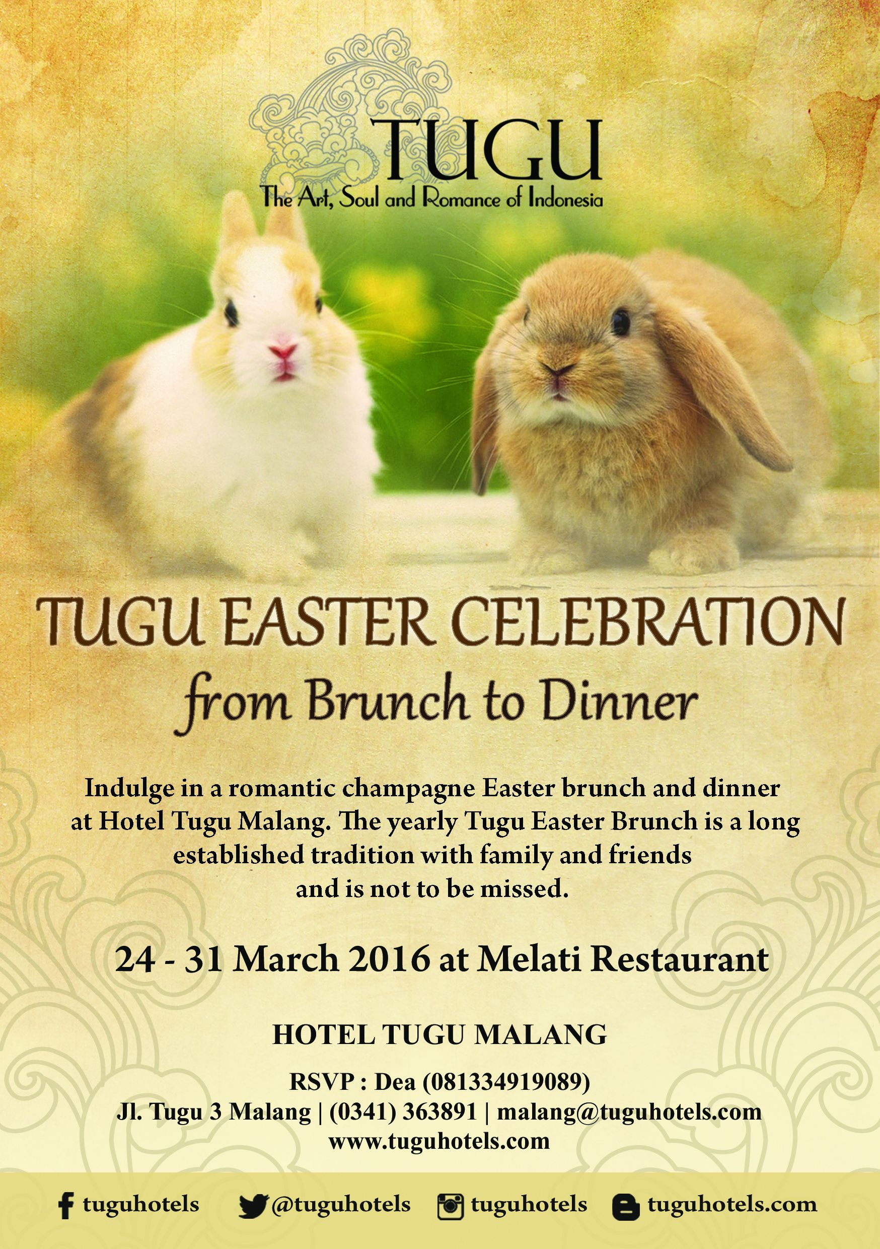 TUGU EASTER CELEBRATION at Hotel Tugu Malang