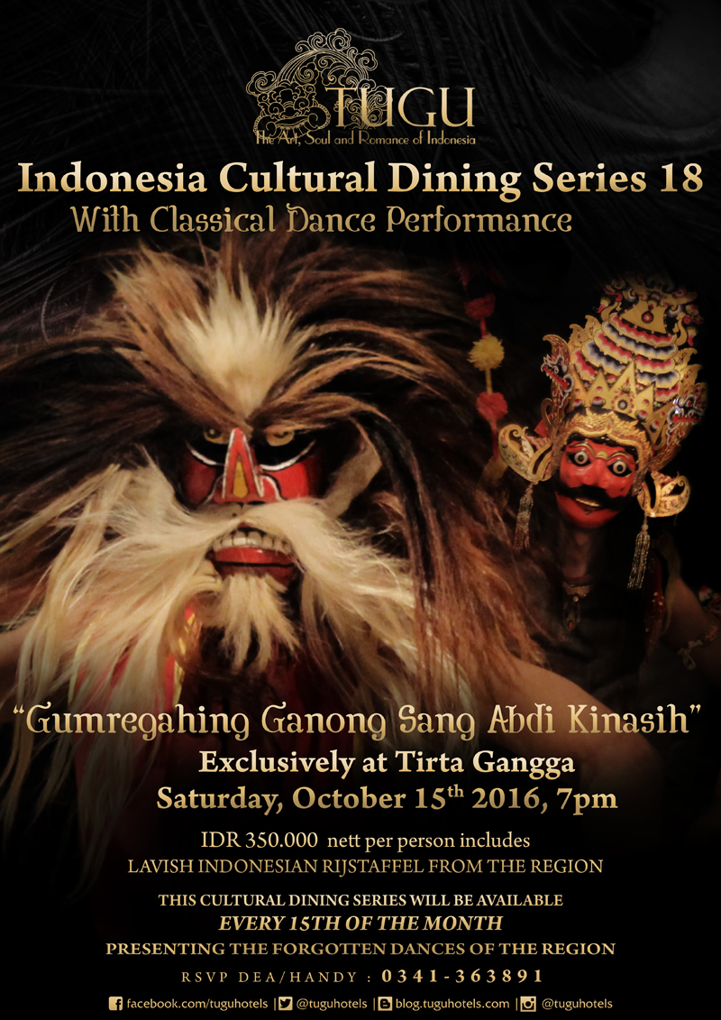 Indonesia Cultural Dining Series 18 With Classical Dance Performance