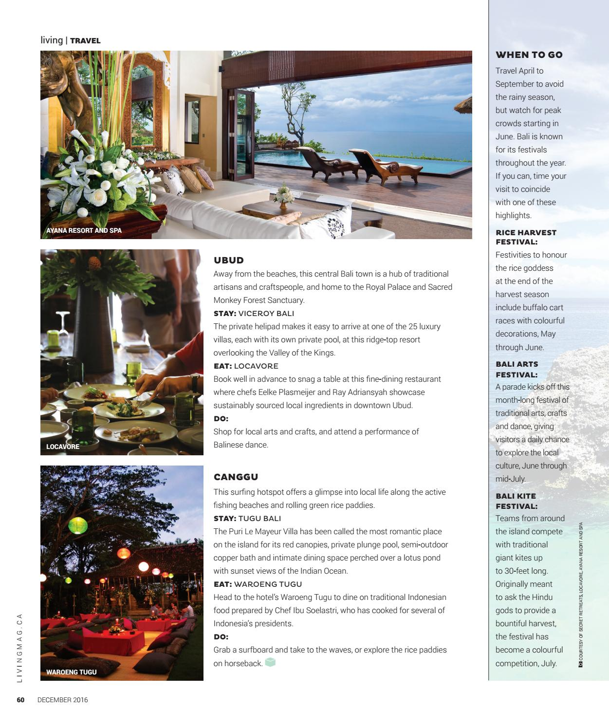 Bali Without Bounds: Where to Eat, Stay and Play in Bali - Hotel Tugu Bali - North Shore Living December 2016