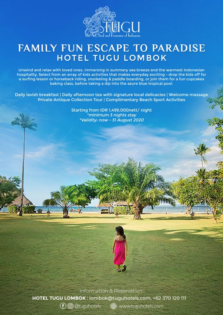 Hotel Tugu Lombok Family Package