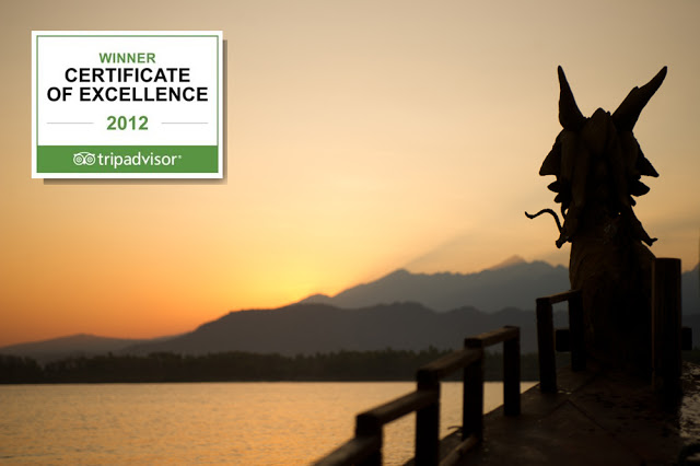 hotel tugu lombok won tripadvisors certificate of excellence 2012