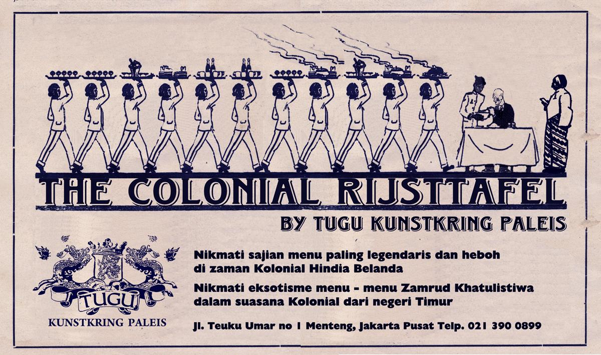 the colonial rijsttafel by tugu kunstkring paleis