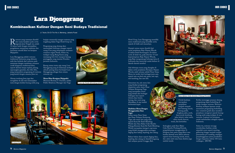Lara Djonggrang - Kombinasikan Kuliner dengan Seni Budaya Tradisional